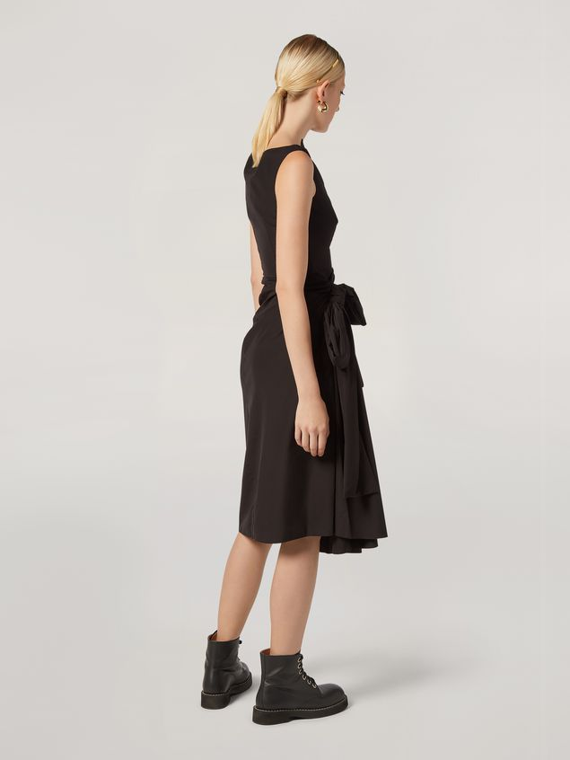 Marni Dress in cotton poplin with lateral bow Woman