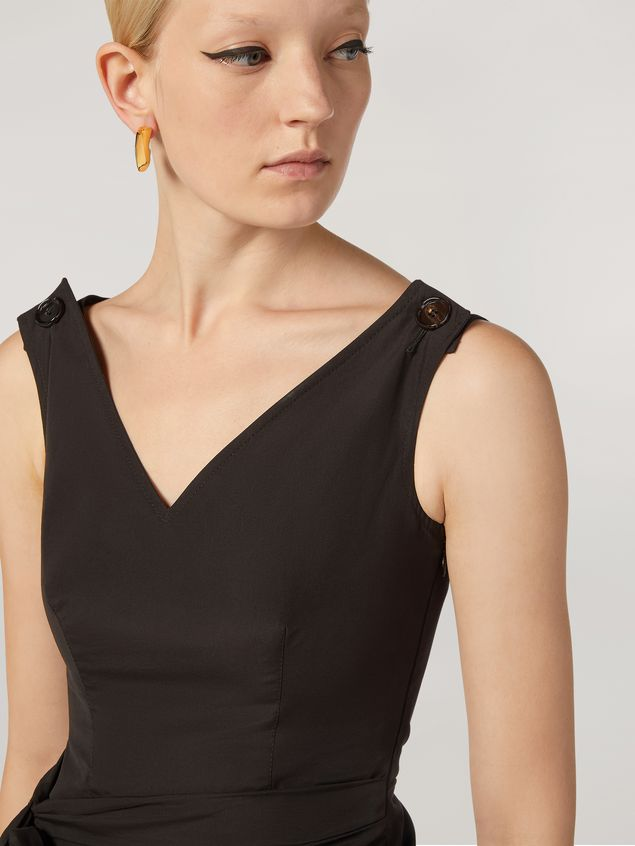 Marni Dress in cotton poplin with lateral bow Woman - 5