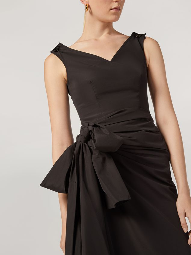 Marni Dress in cotton poplin with lateral bow Woman - 4