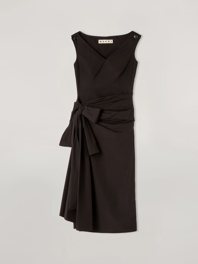 Marni Dress in cotton poplin with lateral bow Woman - 2