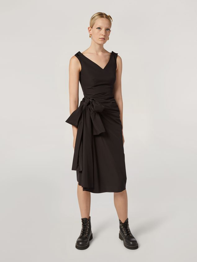 Marni Dress in cotton poplin with lateral bow Woman - 1