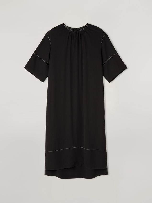 Marni Dress in crepe envers satin with contrast topstitching Woman - 2