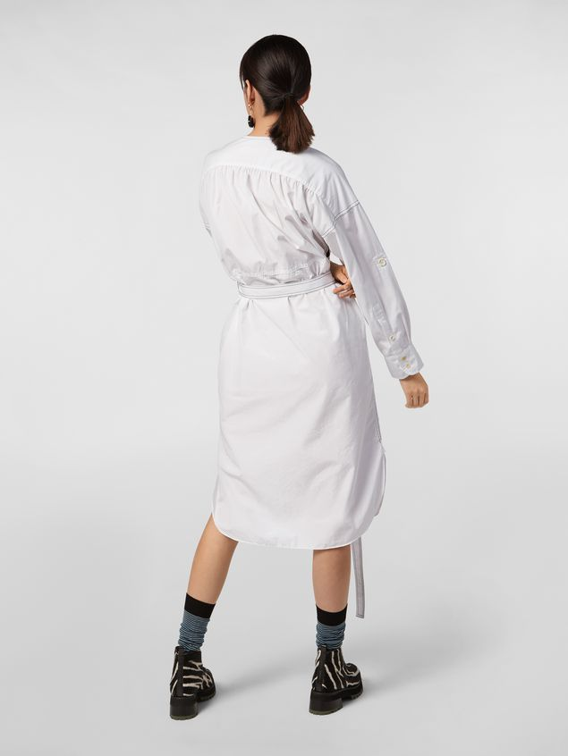 Marni Belted dress in cotton poplin Faces print Woman