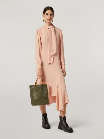 Marni Dress in crepe enver satin with scarf Woman f
