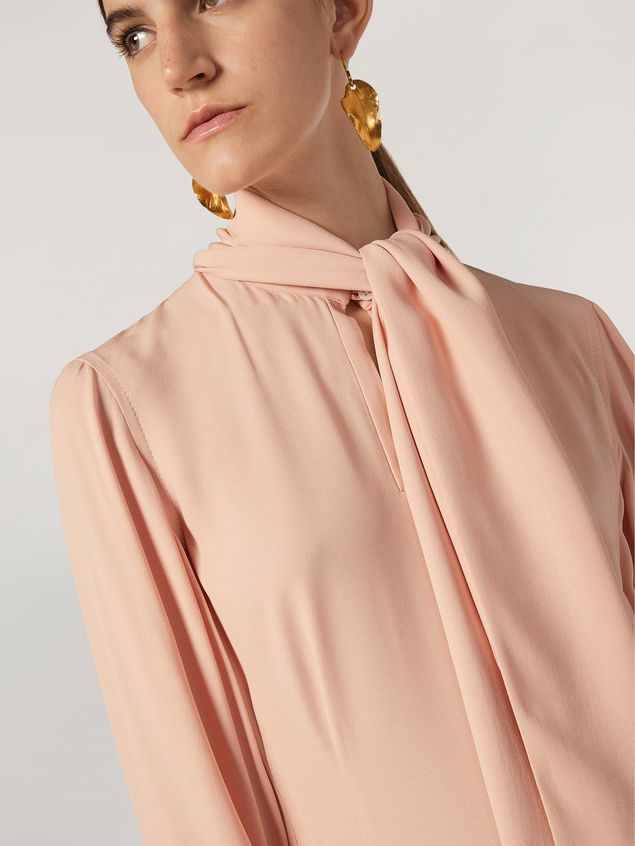 Marni Dress in crepe enver satin with scarf Woman - 4
