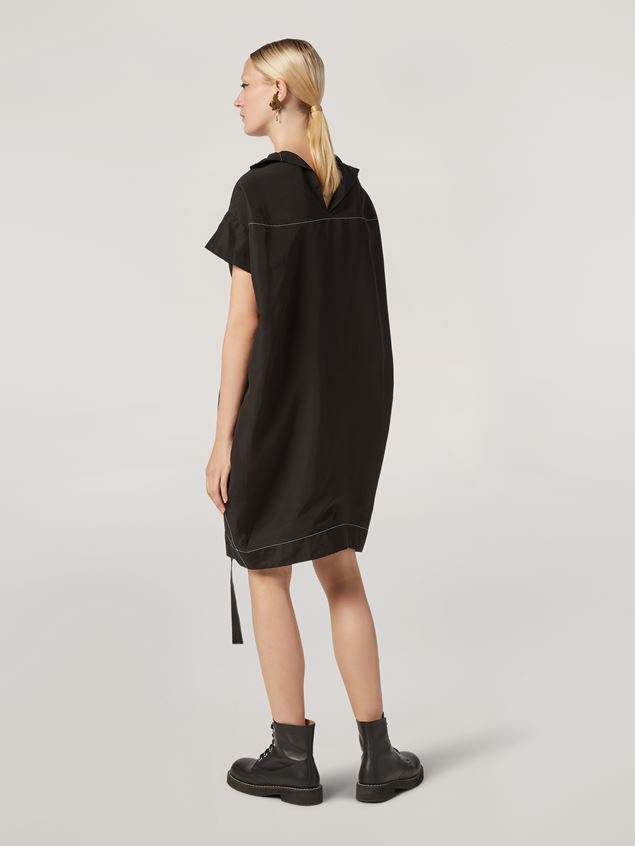 Marni Belted dress in raw viscose ramié Woman