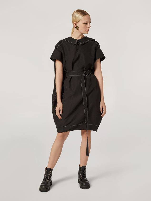 Marni Belted dress in raw viscose ramié Woman - 1