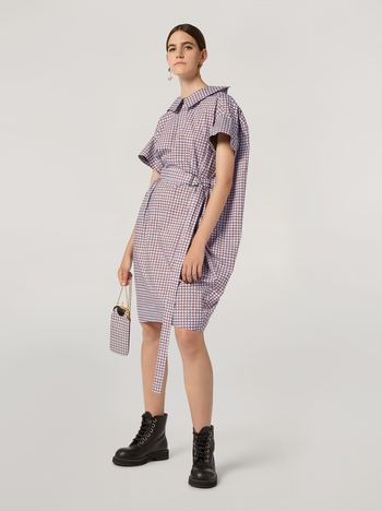 Marni Belted dress in cotton poplin Hive print Woman f