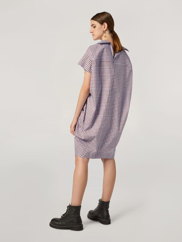 Marni Belted dress in cotton poplin Hive print Woman