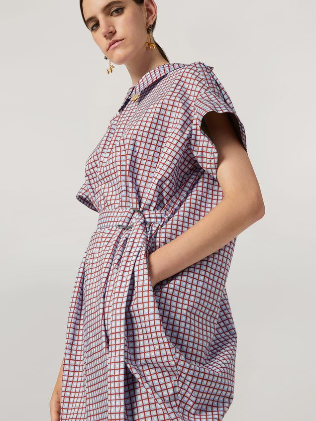 Marni Belted dress in cotton poplin Hive print Woman - 4