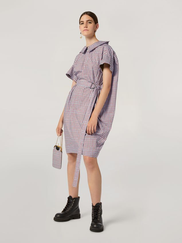 Marni Belted dress in cotton poplin Hive print Woman - 1