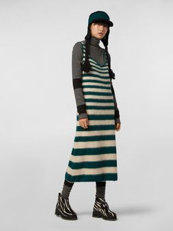 Marni WANDERING IN STRIPES dress in degradé striped wool and alpaca Woman