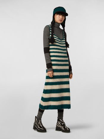 Marni WANDERING IN STRIPES dress in degradé striped wool and alpaca Woman f