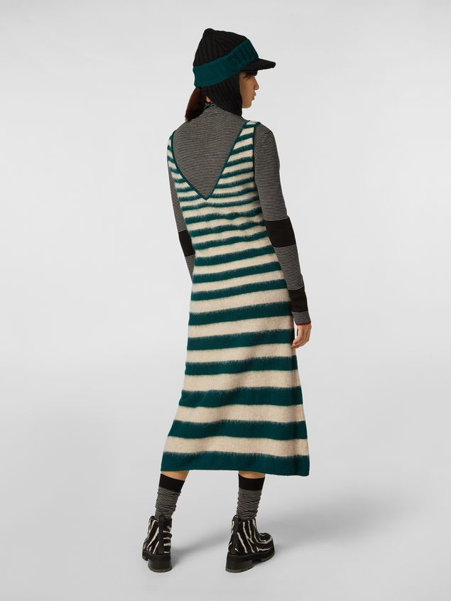 Marni WANDERING IN STRIPES dress in dégradé striped wool and alpaca Woman