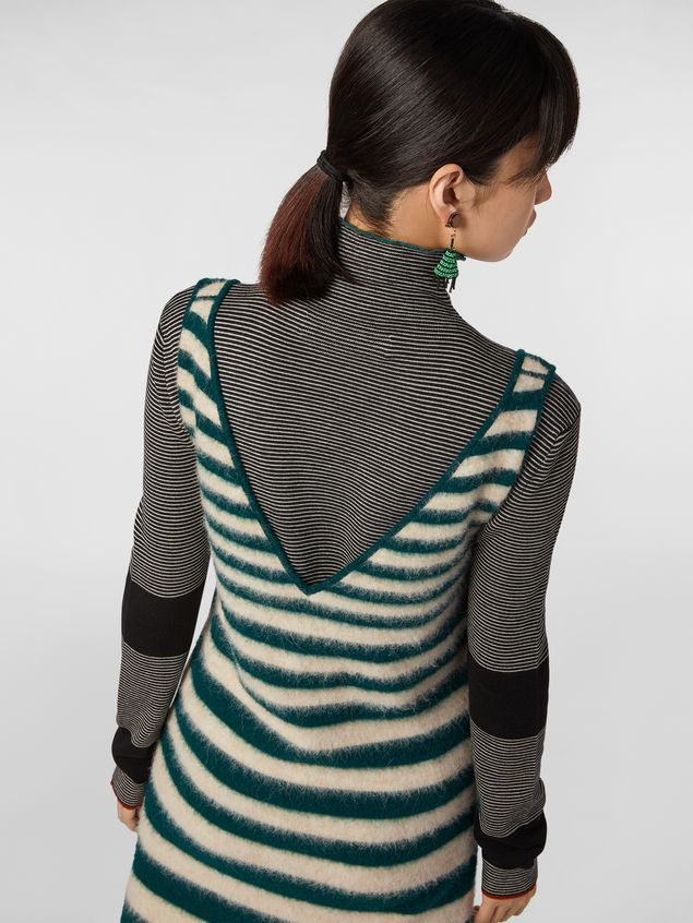 Marni WANDERING IN STRIPES dress in dégradé striped wool and alpaca Woman - 4