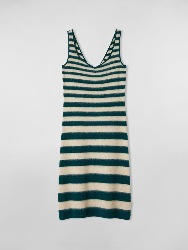 Marni WANDERING IN STRIPES dress in dégradé striped wool and alpaca Woman - 2
