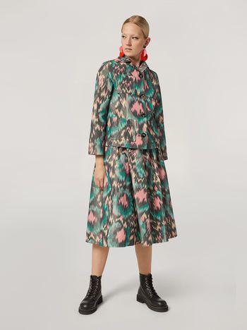 Marni Jacke aus technischem Baumwoll-Chine mit 4Taschen Damen f