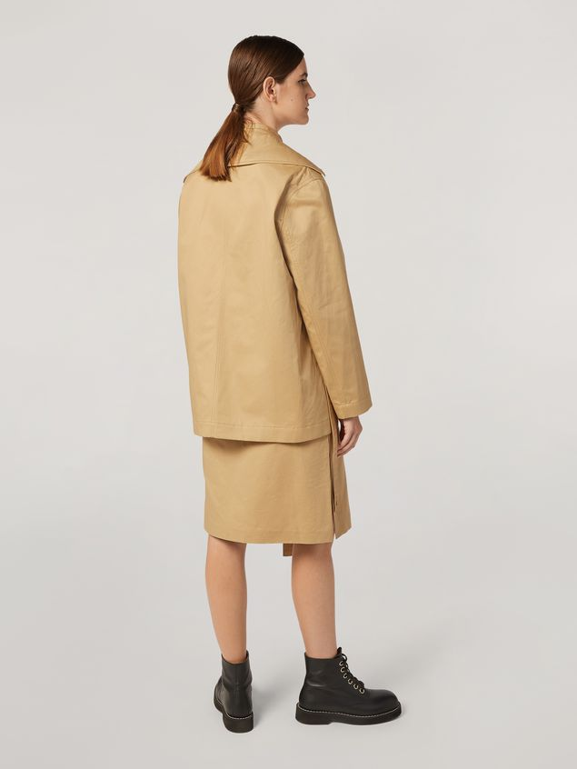 Marni Jacket in cotton and linen drill with 3 pockets Woman