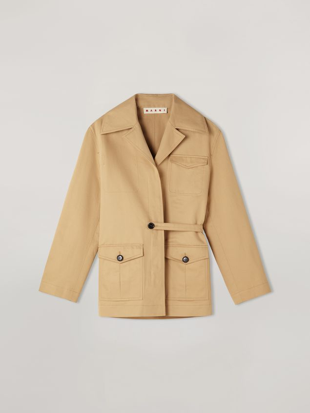 Marni Jacket in cotton and linen drill with 3 pockets Woman - 2