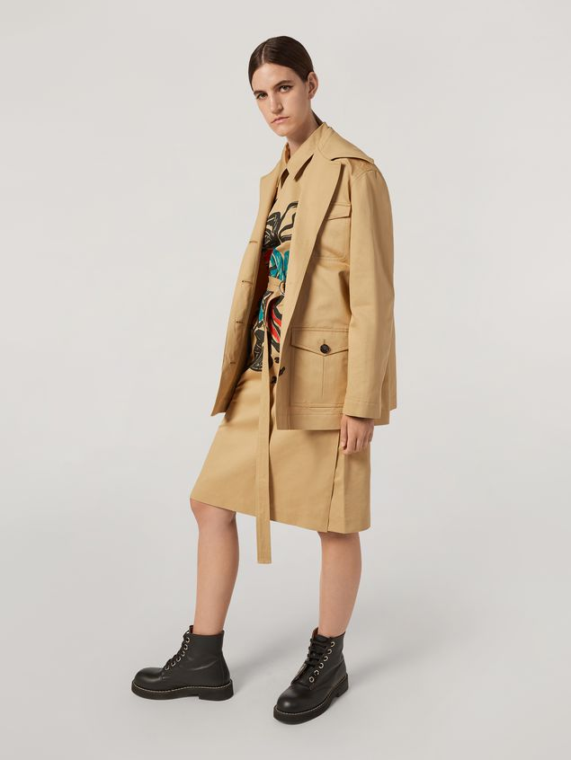 Marni Jacket in cotton and linen drill with 3 pockets Woman - 1