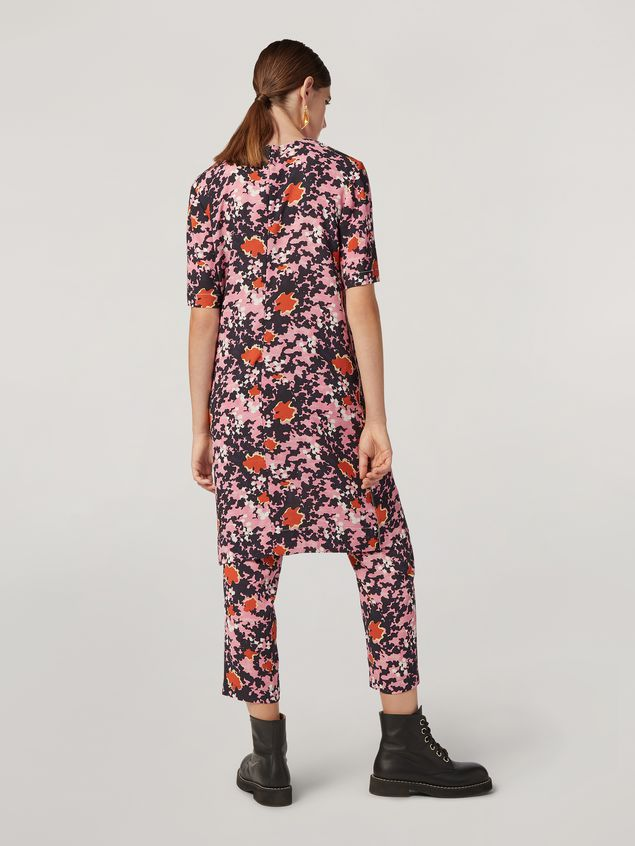 Marni Tunic in viscose sablé Buds print with side buttoning Woman - 3