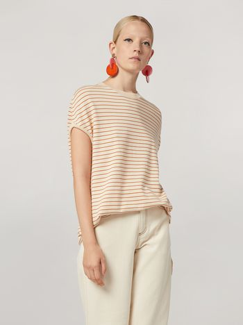 Marni Striped cotton and cashmere tunic Woman f