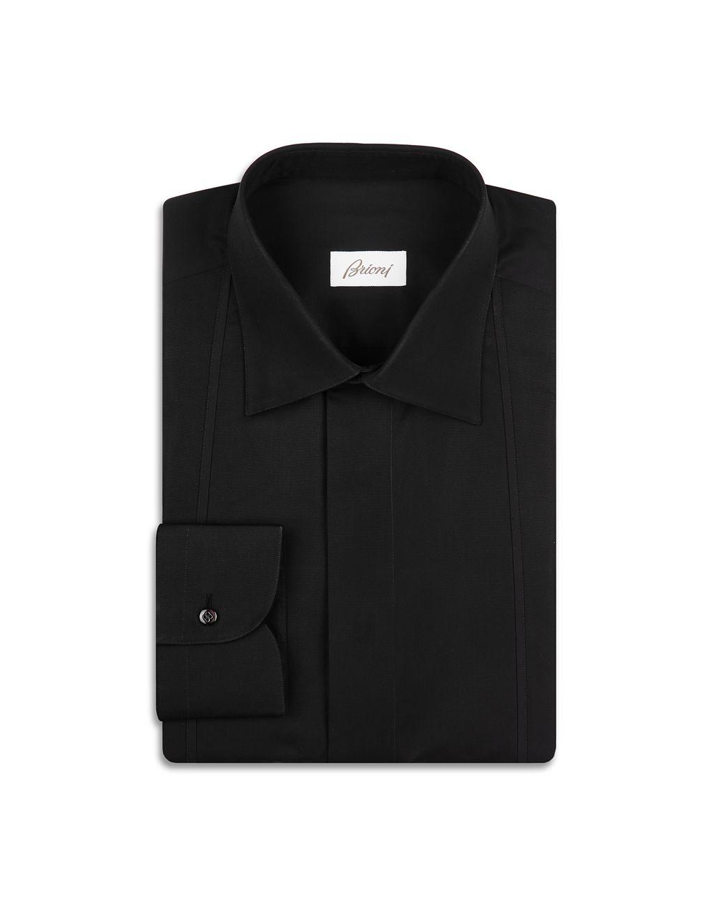 BRIONI Чёрная Вечерняя Рубашка Классическая рубашка Для Мужчин f