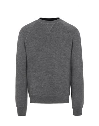 Gray Reversible Crew-Neck Sweater
