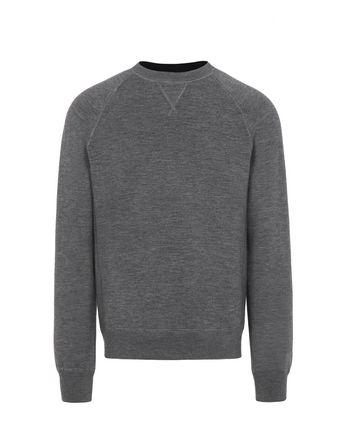 Grey Reversible Crewneck Sweater