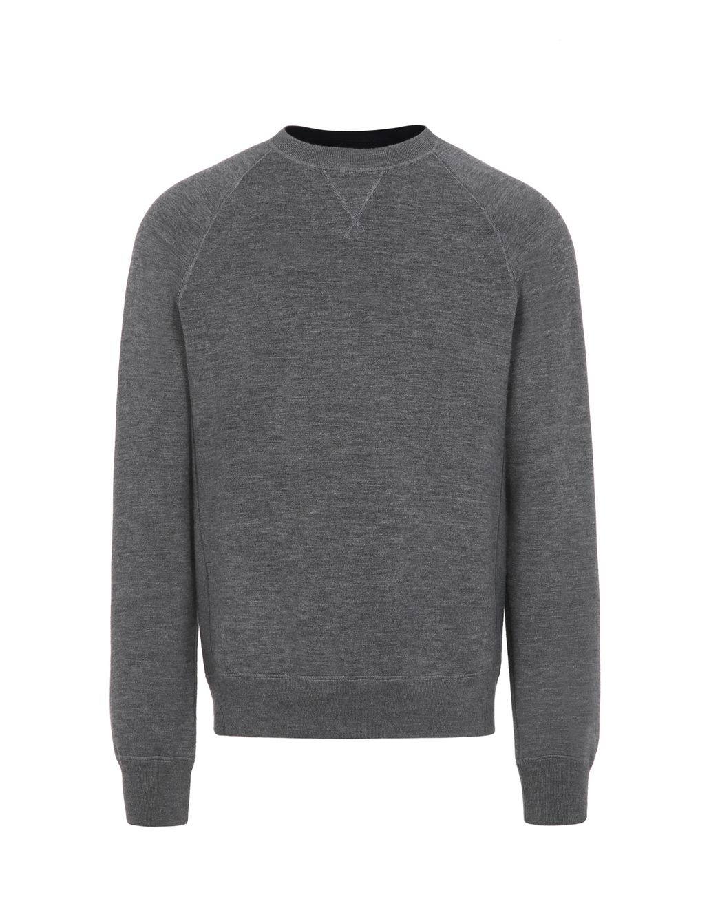 BRIONI Grey Reversible Crewneck Sweater Knitwear Man f