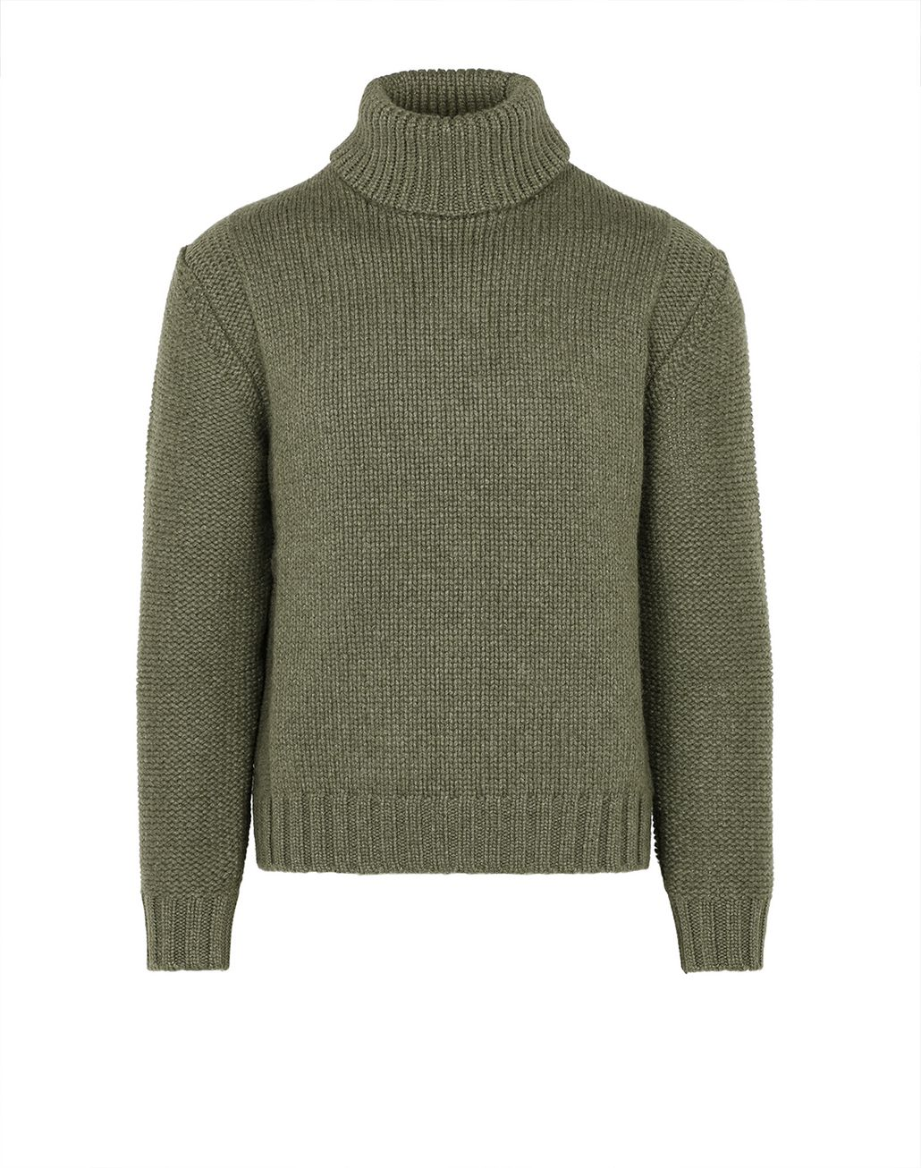 BRIONI Green Turtleneck Sweater Knitwear Man f
