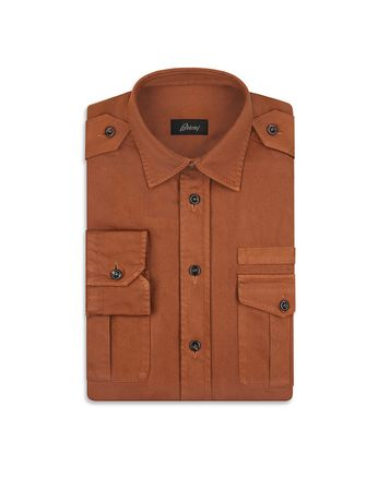 Brown Military Shirt