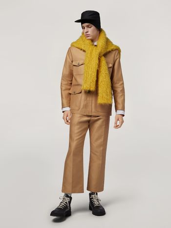 Marni Military jacket in compact cotton satin Man f