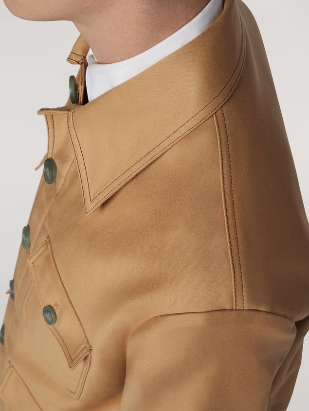 Marni Military jacket in compact cotton satin Man - 5