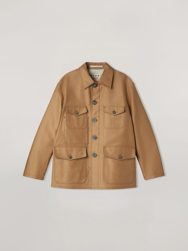 Marni Military jacket in compact cotton satin Man - 2