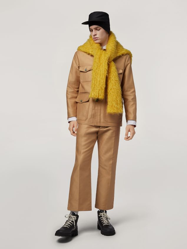 Marni Military jacket in compact cotton satin Man - 1
