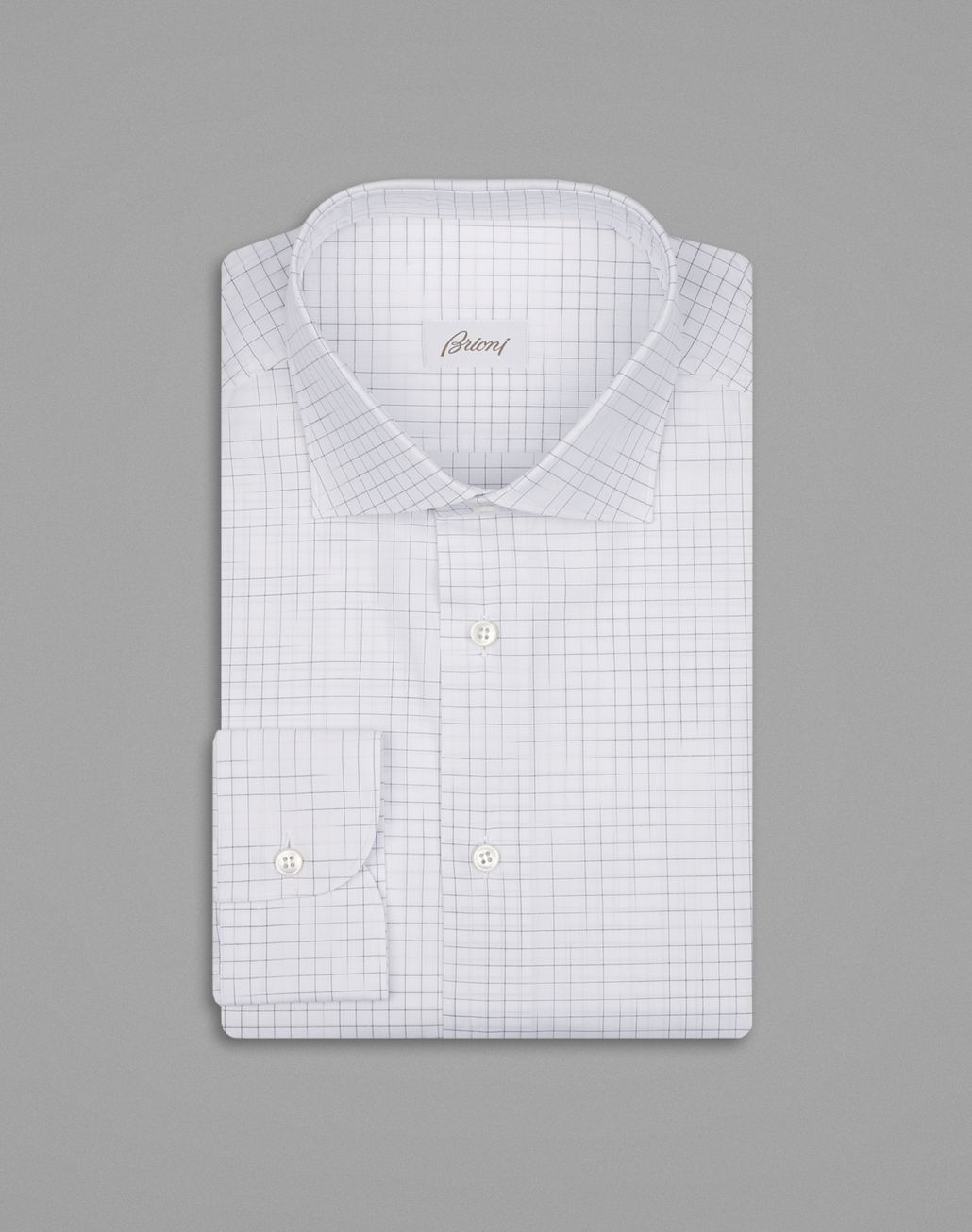 BRIONI White Checked Formal Shirt Formal shirt Man f