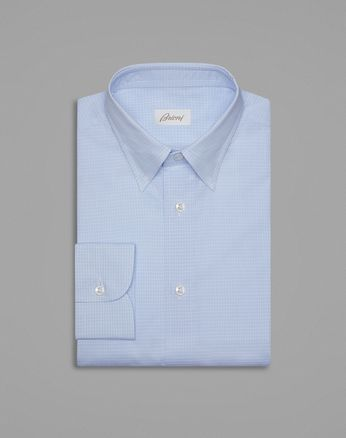 Sky Blue Checkered Formal Shirt