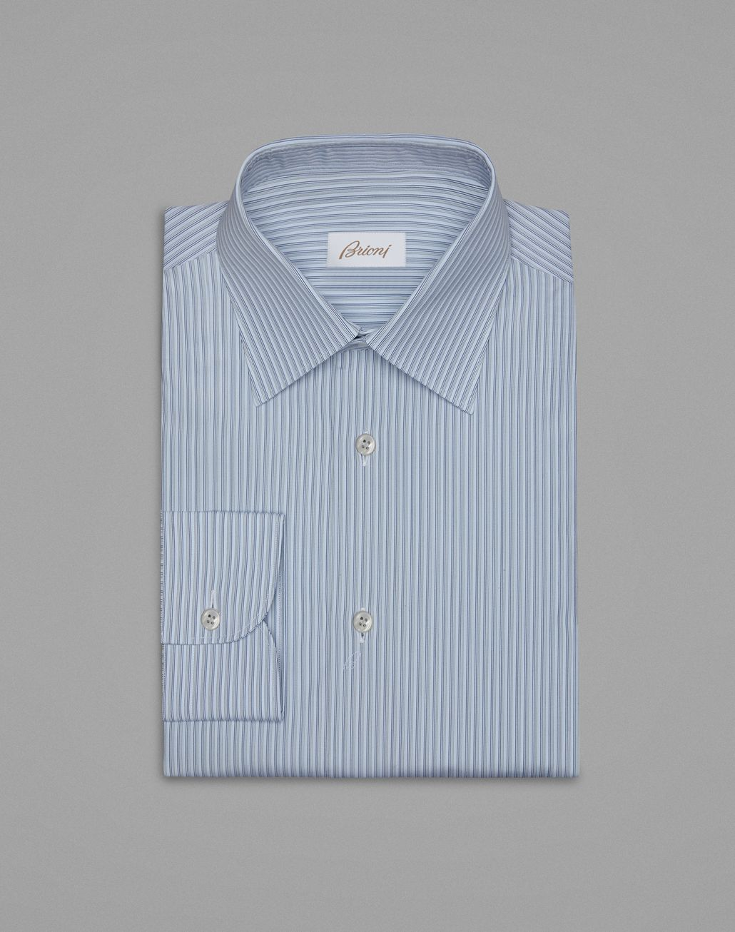 BRIONI White And Bluette Formal Shirt Formal shirt Man f