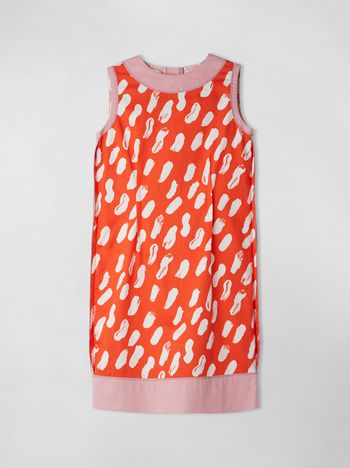 Marni COTTON GABARDINE DRESS WITH GEA PRINT   Woman f