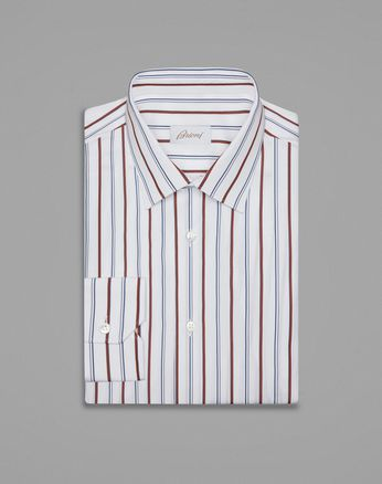 White And Bordeaux Formal Shirt