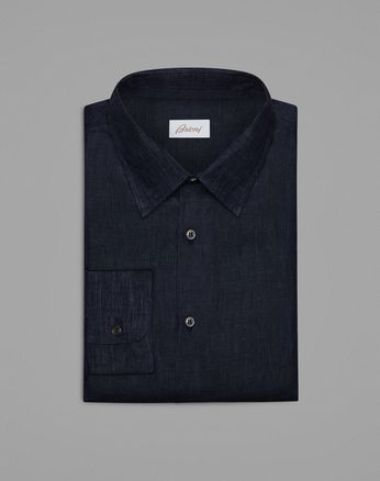 Camicia Blu Navy in Lino