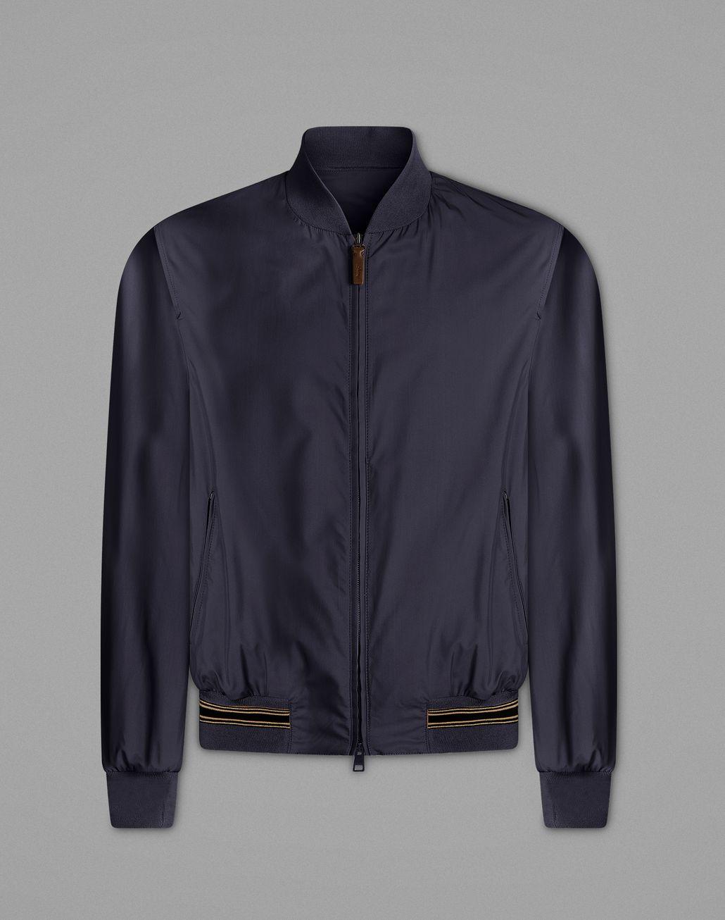 BRIONI Navy Blue Bomber Jackets Man f