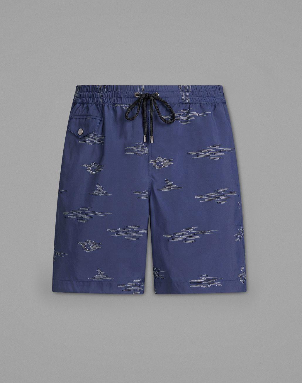 BRIONI Blue Swimming Boxers Beachwear Man f