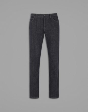 Тёмно-синие джинсы комфортного кроя