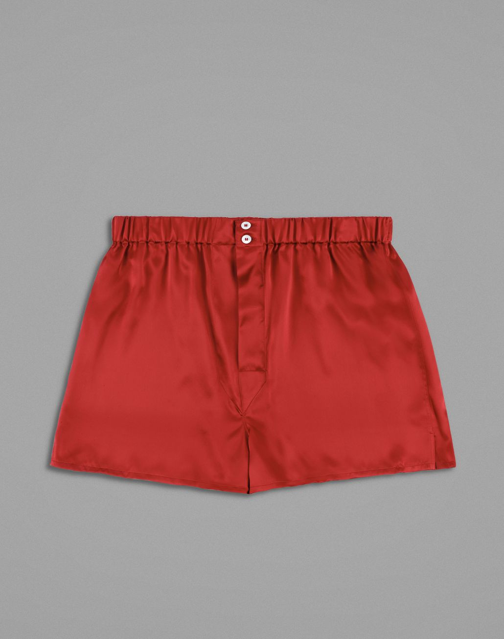 BRIONI Red Silk Boxers Underwear Man f
