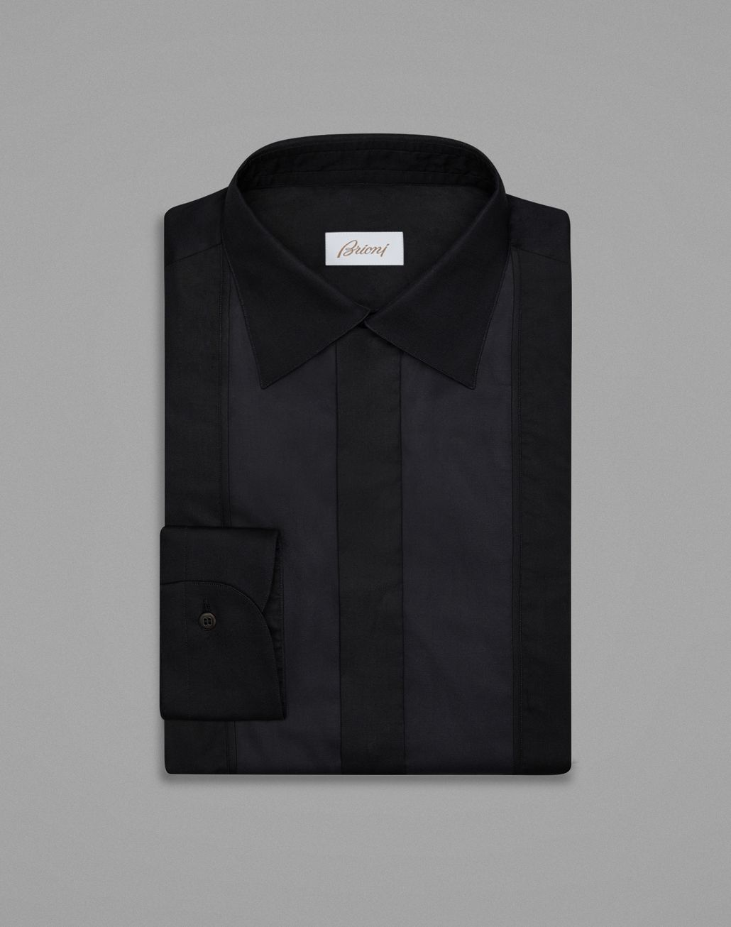 BRIONI Black Evening Shirt Formal shirt Man f