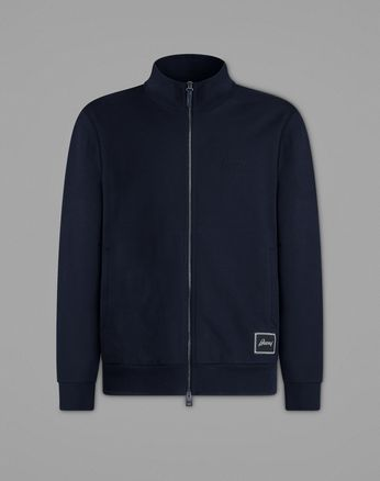 Navy Blue Full-Zip Sweater