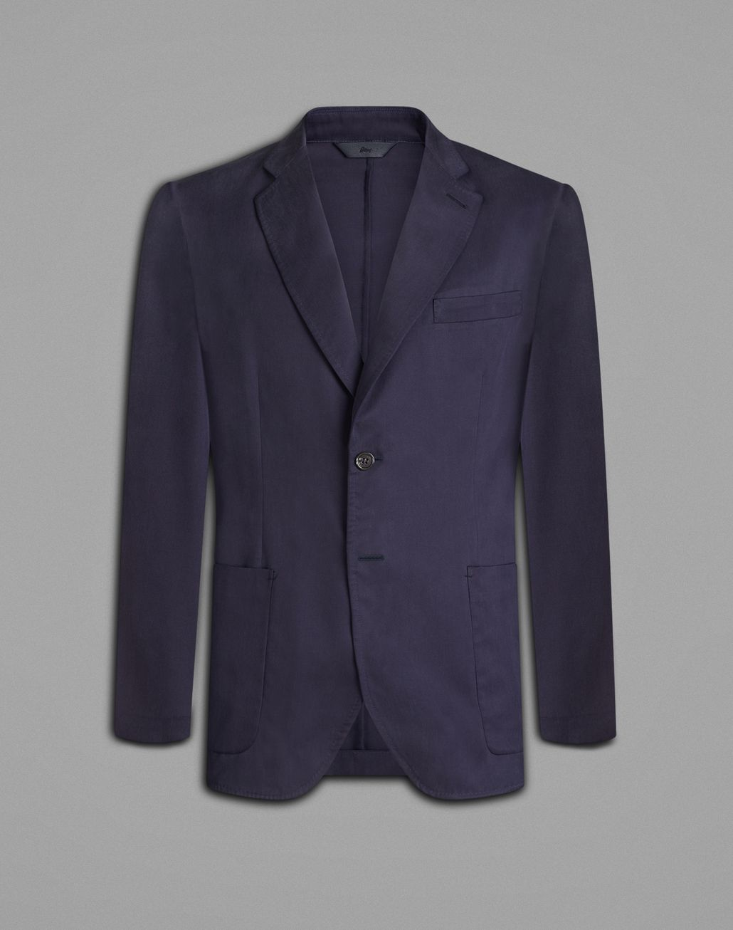 BRIONI Blue Silk Jacket Jackets Man f