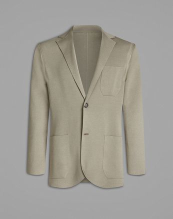 Beige Knitted Jacket